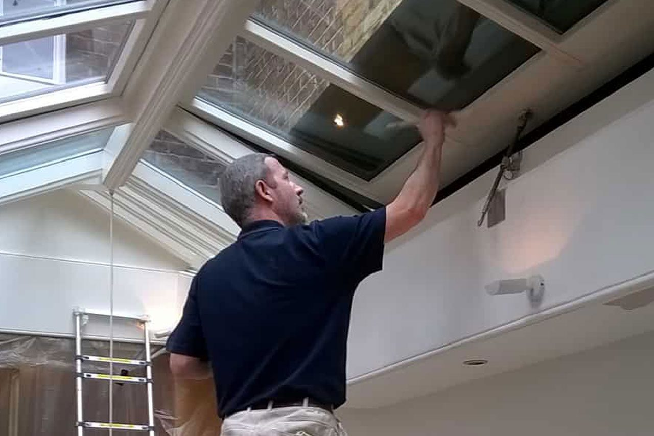 Painting-domestic window roof